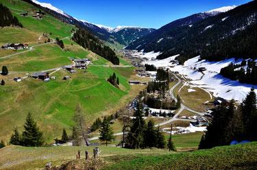 Ausblick Berg-Radl-Weg Innervillgraten