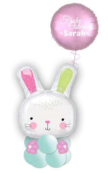 Ballon Luftballon Folienballon Ostern Osterhase Geschenk Deko Tischdeko Mitbringsel mit Namen personalisiert Geldgeschenk Geld Versand Frohe Ostern
