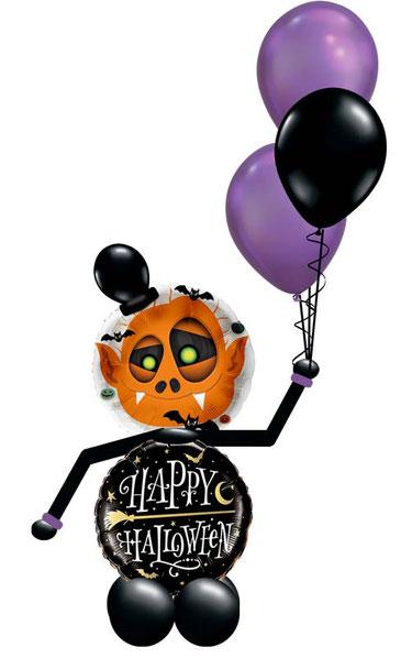 Ballon Luftballon Folienballon Dekoration Geschenk Halloween Party Deko Tischdeko Mitbringsel Versand Heliumballons Happy Halloween Monster Männchen gruselig Vampir Fledermaus Überraschung