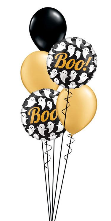 Ballon Luftballon Folienballon Dekoration Geschenk Halloween Party Deko Tischdeko Mitbringsel Versand Heliumballons Happy Halloween Monster Männchen gruselig Vampir Fledermaus Überraschung edel modern elegant Geist Geister Gespenst Gespenster Boo Bouquet