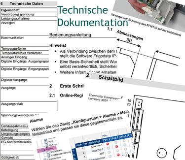 Die Textmamsell: Collage technische Dokumentation