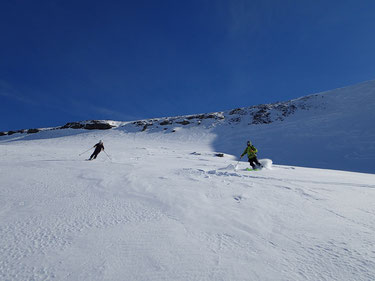 Grand ski, pure neige... Juliette et Pascal en action
