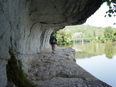 Chemin du Halage à Bouziès