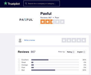 paxful recensioni opinioni trustpilot