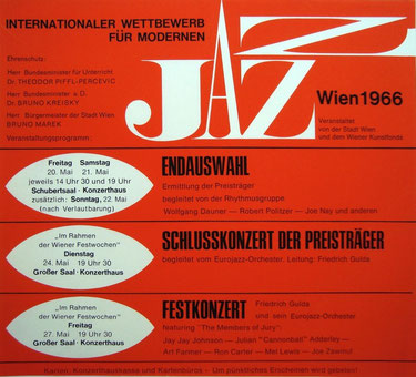 poster jazz vienna competition 1966
