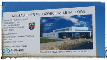 Apr. 2020 - Beginn Neubau Mehrzweckhalle Glowe
