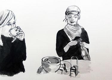 Coffee, 42 x 29,5 cm, Tinte, 2014.