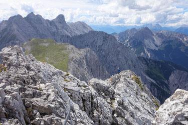 Gamsängersteig, Klettersteig auf die Ellmauer Halt im Kaisergebirge, Wilder Kaiser, Tirol, Österreich