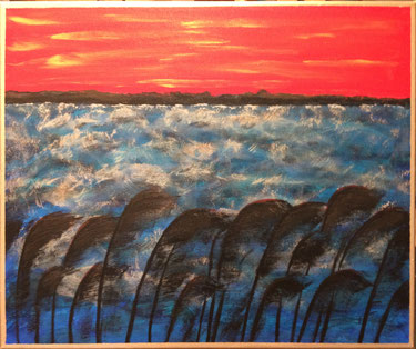 """Last Storm"" 61cm x 50cm Multi Media $250 (excluding freight)"