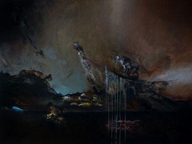 """""""L'arche"""" acrylique sur toile dim: 89cmx116cm"""