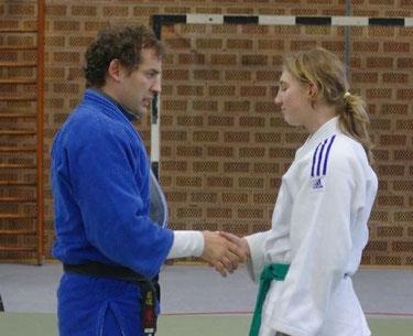 Jennifer und Landestrainer Rok Kosir