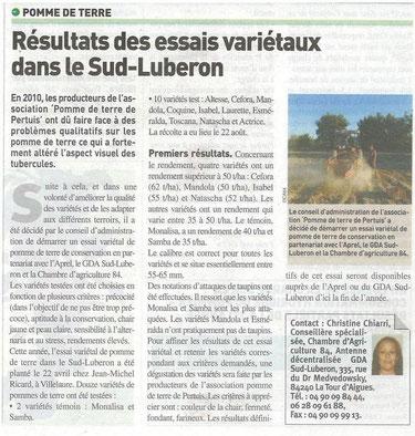 vaucluse agricole 20 septembre 2013
