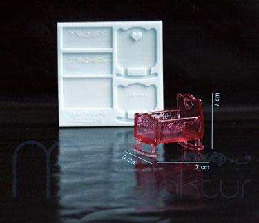 MouldManufaktur Isomalt Zucker Silikon-Einleger Herzen Kugeln Eiskristalle Nudel Quadrate Silikonform Mould
