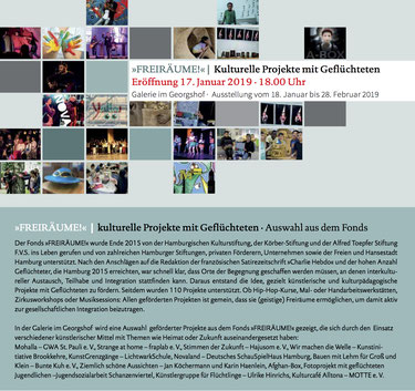 Einladung »FREIRÄUME!« | Kulturelle Projekte mit Geflüchteten