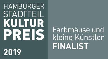 Banner Hamburger Stadtteilkulturpreis 2019 - Farbmäuse und kleine Künstler der LichtwarkSchule