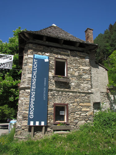 Mautturm - historic tolltower and entrance to the Groppensteinschlucht Gorge