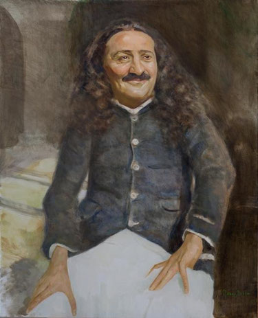 Meher Baba at Jabalpur, January 1939 ; Artist - Gregg Rosen