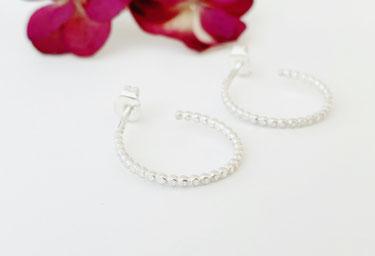 Boucles d'oreilles en argent et pierres gemmes naturelles