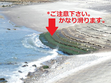 階段下とスロープの下もこの時期海苔に気を付けて下さい~