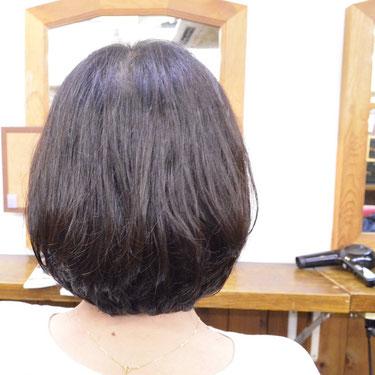 縮毛矯正-ショートボブ