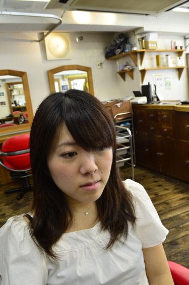 前髪の好きな所だけにカールを付けたいならデジパーがお勧め☆