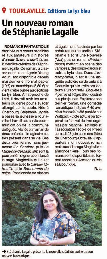 Article paru dans la Presse de la Manche le mercredi 6 juin 2018. Merci à Roger Lescroel pour son article. ©ThibaultLagalle