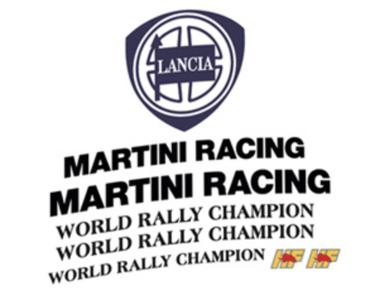 kit completo martini 6 sponsor scritte marchi lancia delta evo pubblimais martini racing world rally campi hf shop sticker adesivi
