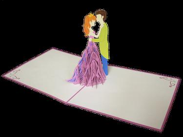 Carte Pop-Up  3D Princesse