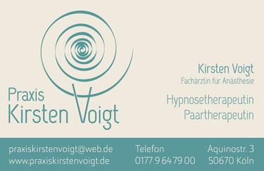 Vorderseite der Visitenkarte Praxis Kirsten Voigt