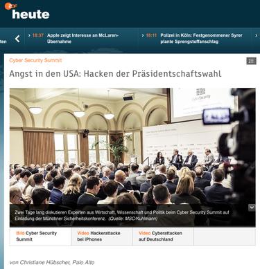 Ein Bericht für ZDF heute.de