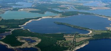 Das Lausitzer Seenland aus der Vogelperspektive, Foto: Peter Radke