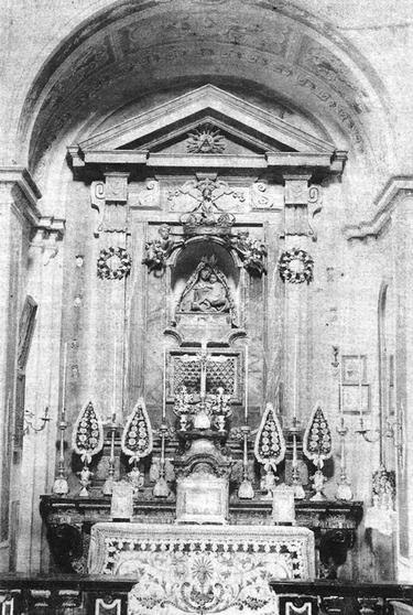 ANTICA COLLOCAZIONE DEL SIMULACRO DAL 1811 AL 1923