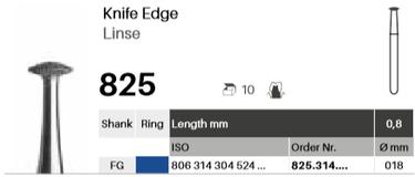 Linse 825, Diamant FG