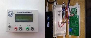 Teaching equipments (left: current voltmeter, right: sensor speedometer)