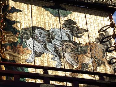 本町の山車にある刺繍(能装束研究家の山口憲さんによる作品)