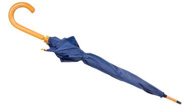 Ein Verteidigungsregenschirm sieht aus wie ein normaler Regenschirm