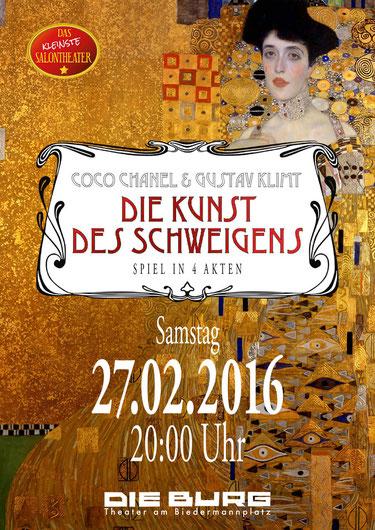 """Bild: Plakat zu """"Die Kunst des Schweigens"""" vom Kleinsten Salontheater"""
