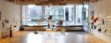 glasgalerie, studioglas, römische glaskunst, fusing, paperweight, CCAA, museumshop