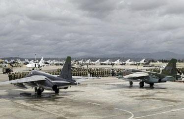 Russisk flybase i Hmeimim, Syrien