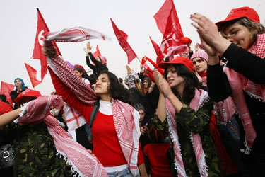 PFLP demonstration i Gaza-by 2010