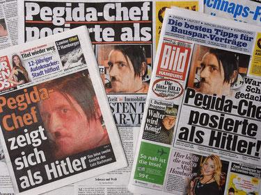 PEGIDA-talsmanden Lutz Bachmann blev landskendt for sin selvfremstilling på facebook som Hitler-fan ...