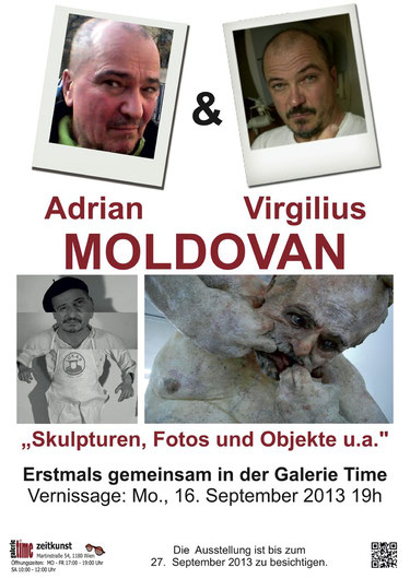 Galerie Time Moldovan Virgilius Moldovan drian Skulpturen Fotos Objekte u.a. Vernissage Günther Wachtl