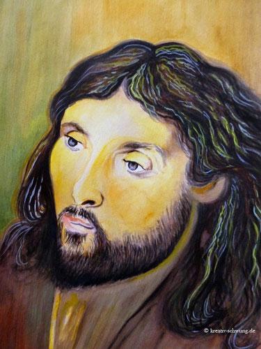 Jesus, Aquarell nach einer Vorlage von Rembrandt 2019