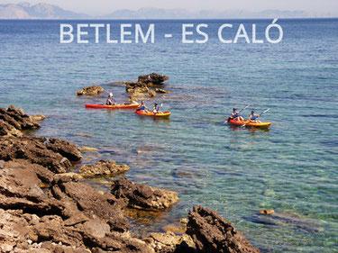 guided kayak trip mallorca natural park betlem