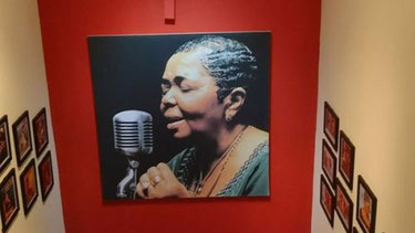 Visiting the museum of Cesaria Evora