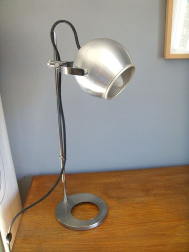 Lampe bureau vintage eyeball chrome