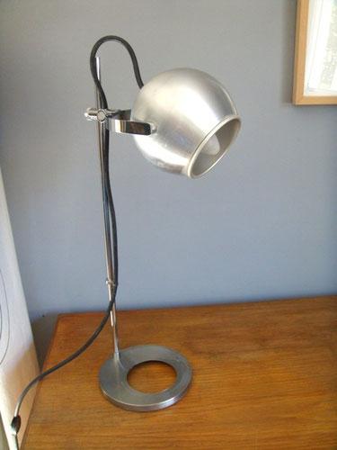 Lampe bureau vintage eyeball chrome