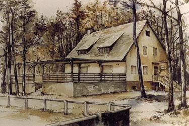 Bleistiftzeichnung anlässlich des 40. jährigen Vereins Jubiläums.