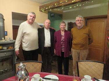 Die vier Autoren von links nach rechts: Friedemann Steiger, Martin Steiger, Anna-Maria Meussling und Georg Steiger. Foto: M. Steiger