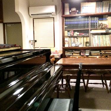 宮崎のハマダ音楽教室の入り口
